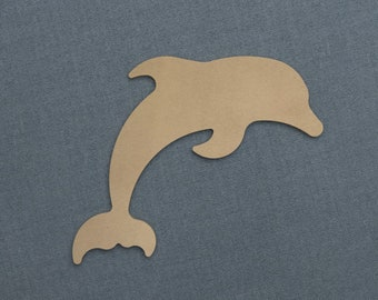 Dolphin - Nautical Wood Cutout - Unfinished Sign