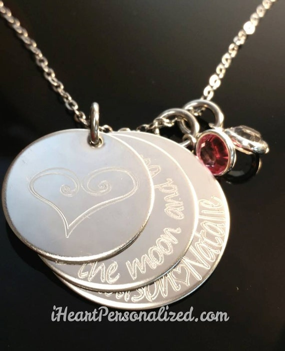 Personalized Necklace with Message Family Children's Names