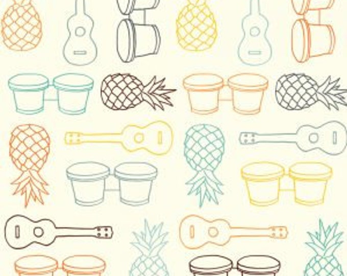 Organic KNIT Fabric - Birch Summer '62 Knit - Beach Fare in Multi Knit
