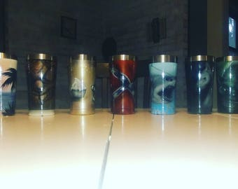 All are one off custom painted cups.