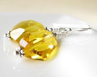 Got Sunshine Earrings Swarovski crystal and Sterling silver