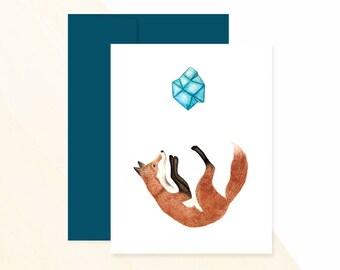 Fox Greeting Card, Fox Art, Birthday Card Greetings, Birthday Card Messages, Birthday Card Wishes, Send A Birthday Card,
