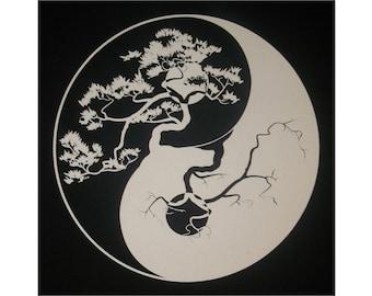 Yin Yang Chinese Tao T-Shirt WH