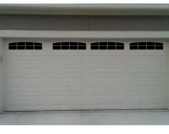 double garage doors with windows. Carriage House Style Faux Garage Door Windows For Wide Panel Doors Vinyl Decals Double With
