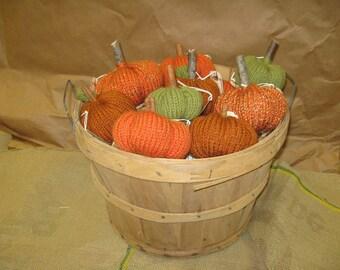 Stuffed Pumpkin, Knitted