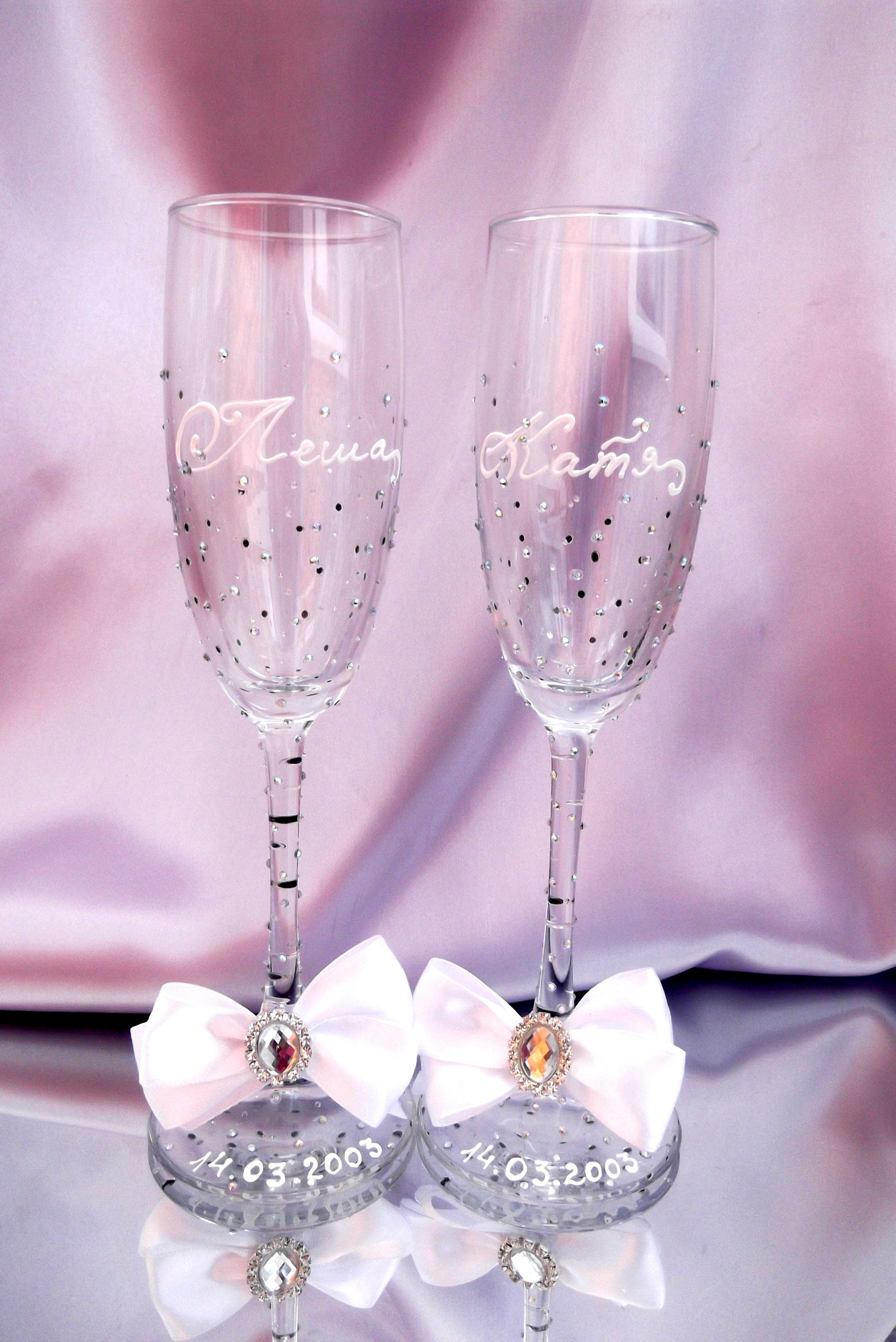 Wedding Glasses Champagne Flute Wedding Gift Personalized
