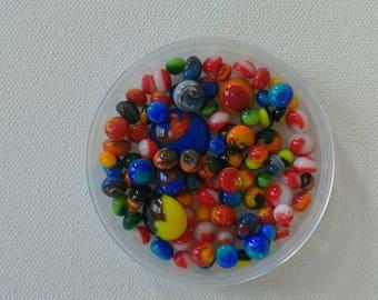 1 OZ 96 COE Glass Swirl Dots