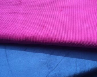 Fine corduroy fabric - Deep blue