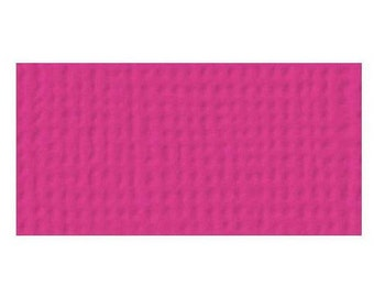 "American Crafts Weave Textured Cardstock 12""x12"" - TAFFY"
