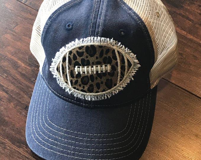 Shabby chic football hat