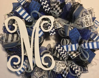 Police wreath, Police Officer wreath, law enforcement wreath, police officer wreath, policeman wreath, police officer