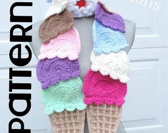 PATTERN:  Ice Cream Scarf