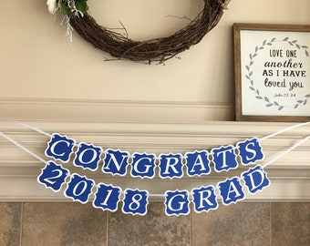 High School Graduation Banner - School Colors Fabric Banner - Tulle Fabric Handmade Dorm Decoration College Garland Satin Ribbon Custom