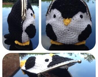 Penguin Coin Purse Crochet Pattern