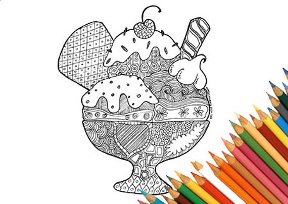 Ice cream coloring page coloring page for kids coloring page