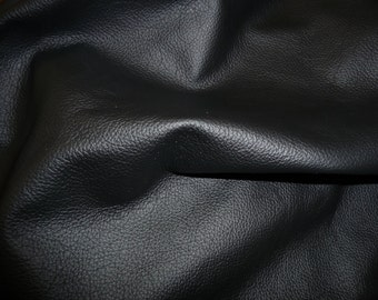 """Leather 8""""x10"""" DIVINE Black Top Grain Cowhide 2.5 oz / 1 mm PeggySueAlso™ E2885-24 Full hides available"""