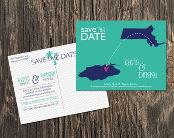 Bahamas – Save the Date – Nassau, Atlantis Destination Wedding – Wedding Save the Dates