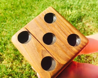 Yard Dice - Yard Yahtzee Dice - Giant Die - Home Decor - Man Cave Decor - Game Room Art - Gift for Her - Gift for Him - Handmade
