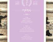Menu Card, Wedding, Rusti...