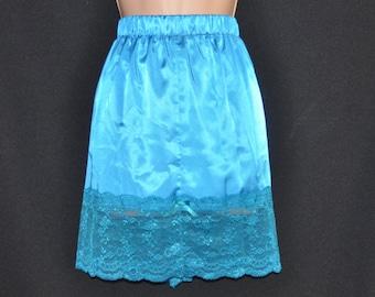 Beautiful silky soft half slip, lacy feminine hem, lovely lingerie, Sissy Lingerie