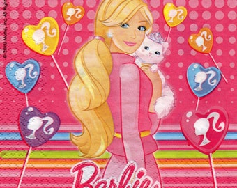 BARBIE and her cat paper towel 269