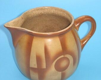 Vintage 30s milk pot, Karl Werner (spray decor)
