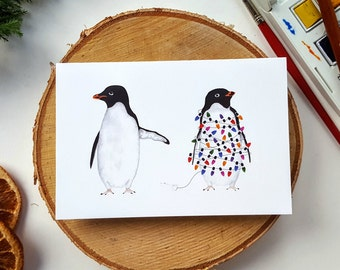 Silly Penguins Christmas Card Pack (Two Designs) - Xmas - Festive Card - Holidays - Holiday Card - Penguins - Funny - Christmas Cards - Cute