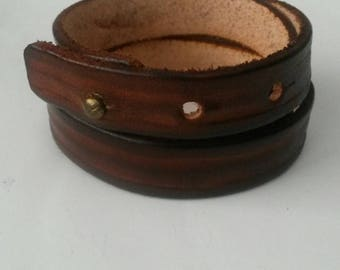 Thin leather strap