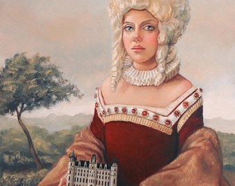 Her Kingdom. Signed Art Print of an Original Surreal Oil Painting