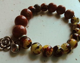 Stretch Moonstone beaded bracelet