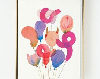 Marbled Balloons 8pcs