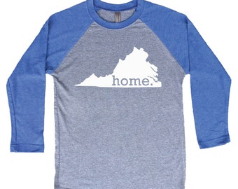 Homeland Tees Virginia Home Tri-Blend Raglan Baseball Shirt