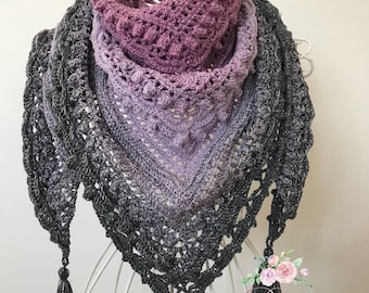 Colour changing  Shawl Handmade Scarf