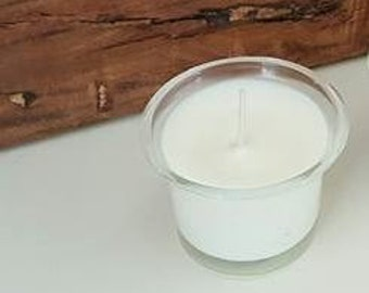 One Natural Soy flush fit votive candle for sugar mold