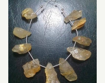 80% OFF SALE 10 Pieces Natural Golden Rutile Rough Beads