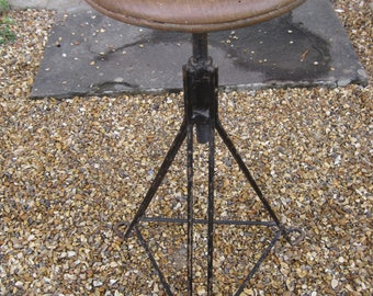 French Industrial Factory Stool