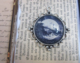 Blue Moon Sky cabochon - Magic Talisman
