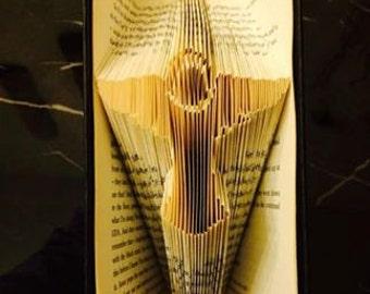 Guardian Angel Folded Book Art **Pattern**  Pdf. Book Folding Book Origami free instructions/ tutorial