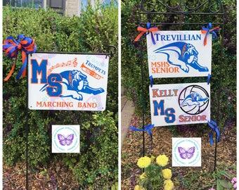 School Spirit Hanging Sign Boards | Garden Sign | Yard Sign | School Spirit Sign | Home Decor | Wall Art