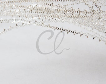 One Meter (3.28 Feet) Premium Silver Plated Brass Base Gallery Bezel Wire - 4.8mm (1949C-Q-262)