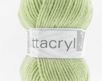 Wool knitting UTTACRYL almond No. 141 horse white colors