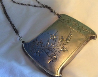 Ultimate Victorian Aesthetic Engraved Sterling silver Card Case