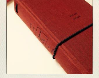Buldori altered book - red ochre Organizer kit + notebooks - traveler notebook - Bullet journal - fauxdori - midori - bujo