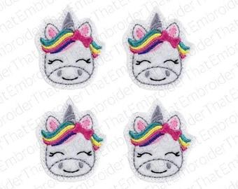 UNCUT Adorable Unicorn felt applique embellishments patch feltie (4)