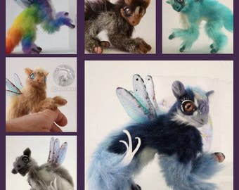 Dragon Doll - CUSTOM DRAGON - Handmade Poseable - Fantasy Creature - Fantasy Animal MJALBERTSCULPTS
