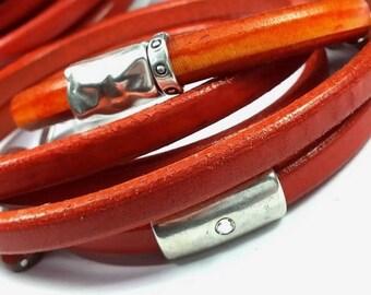 20 centimeters (Re1) 6x11mm orange Regaliz leather
