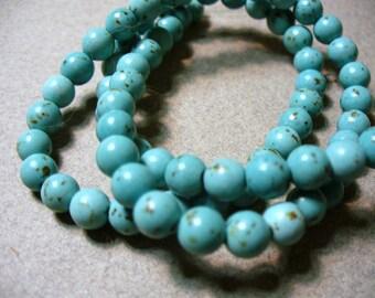 Howlite Beads Gemstone Blue 5-6MM