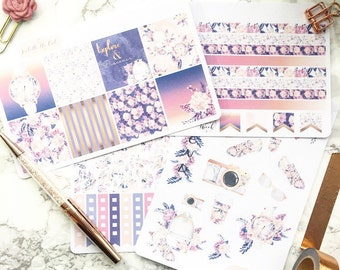 Erin Condren Horizontal Travel With Me Weekly Kit Planner Stickers