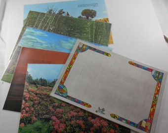 Vintage Bright of America Reversible Inspirational Placemats Bible Verses Set of 6 Nature Scenes