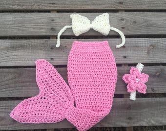 Mermaid Tail Photo Prop, Baby Mermaid Tail, mermaid fin, mermaid blanket, pink mermaid tail, mermaid costume, ariel